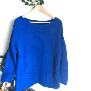 Vince Camuto cobalt sweater. Size L